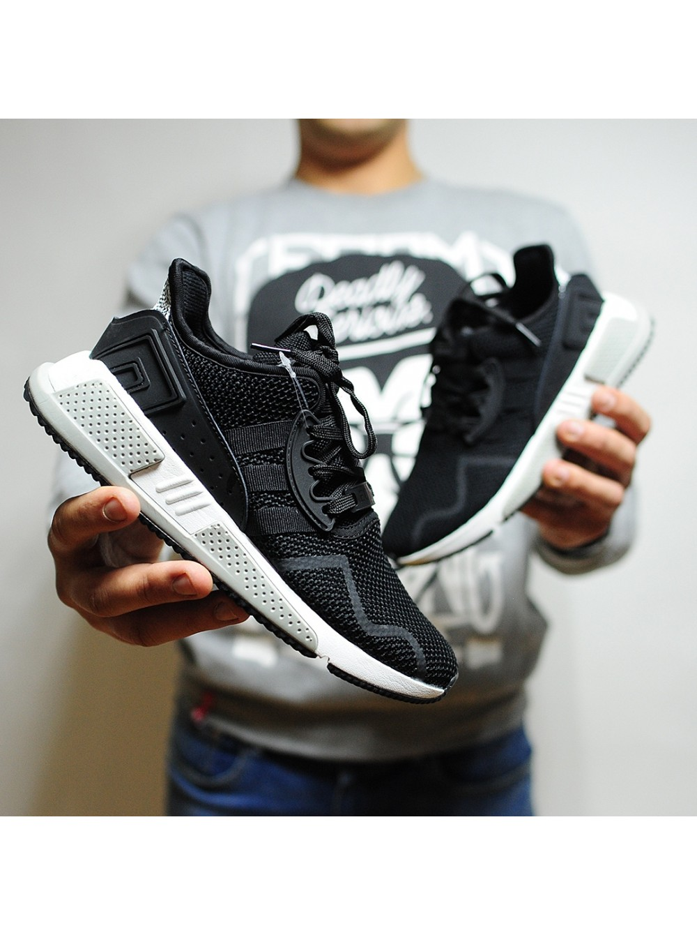 buy online 8cb34 02288 Кроссовки Adidas EQT Cushion Adv / 91-17 Black White