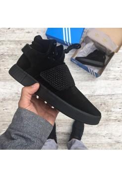 Кроссовки Adidas Tubular Invader Strap Triple Black