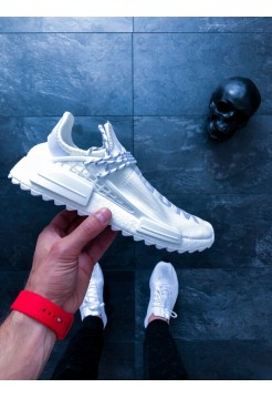 Кроссовки Pharrell Adidas NMD Hu Trail Blank Canvas White