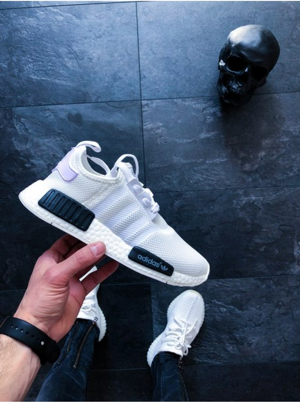 df62c94839bcae Кроссовки Adidas NMD R1 Oreo White/Core Black