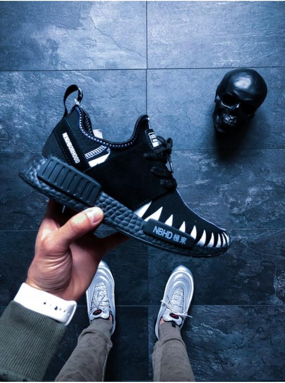 super popular c8386 95a21 Кроссовки adidas x Neighborhood NMD R1 PK (Core Black / Core Black / Ftwr  White)