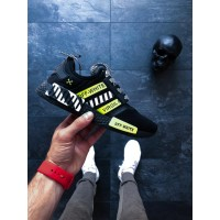 Кроссовки OFF-White adidas NMD R1 Black White/Yellow