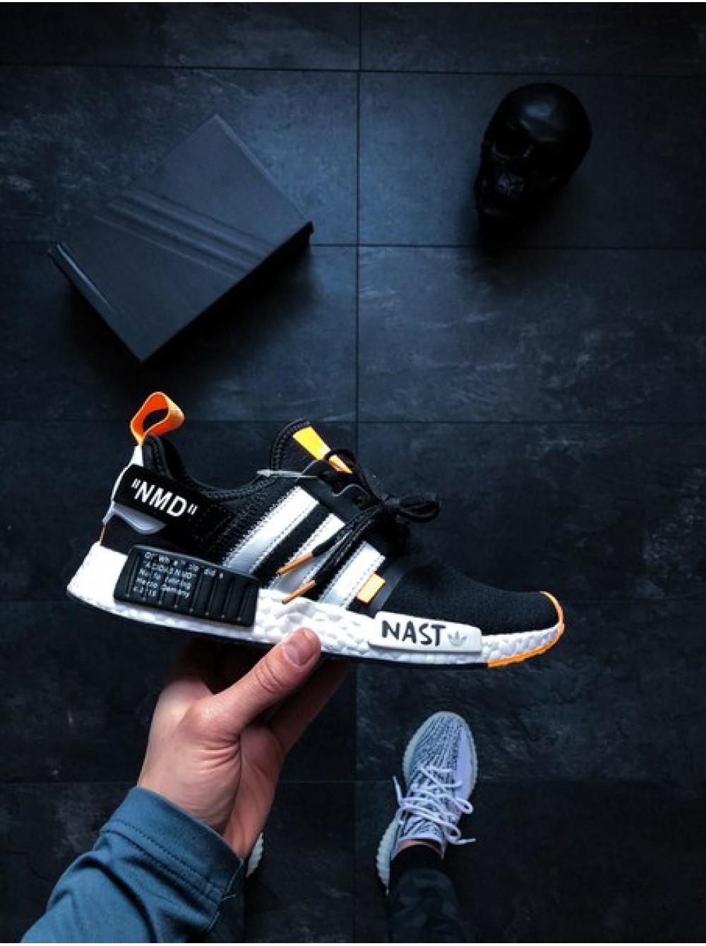 b25e8a36d07f8a Кроссовки Off-White x adidas NMD R1 PK Primeknit Black White Orange.