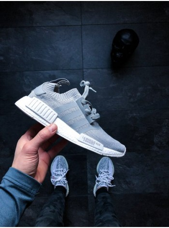 Кроссовки Nmd R1 Runner Primeknit «Grey Three»