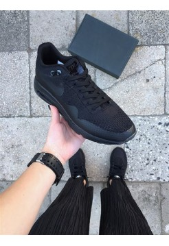 "Кроссовки Nike Air Max 1 Ultra Flyknit ""Triple Black"""