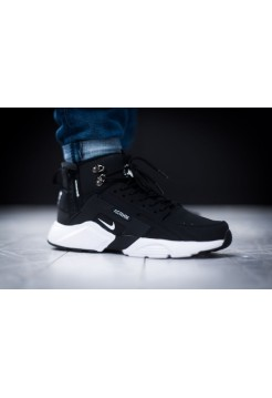 "Кроссовки ACRONYM x Nike Huarache City MID Leather ""Haki Black"""