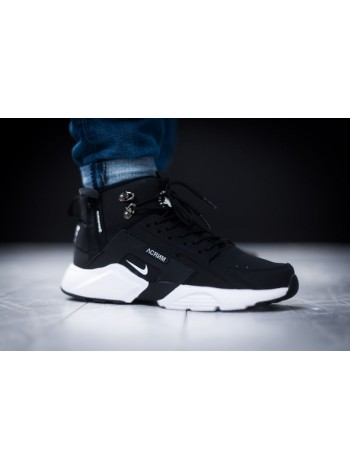 "Кроссовки ACRONYM x Nike Huarache City MID Leather ""Haki Black"""