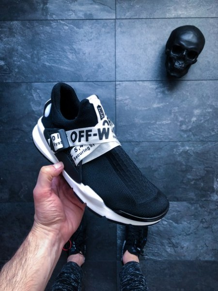 Кроссовки OFF-WHITE x Nike Sock Dart Black White