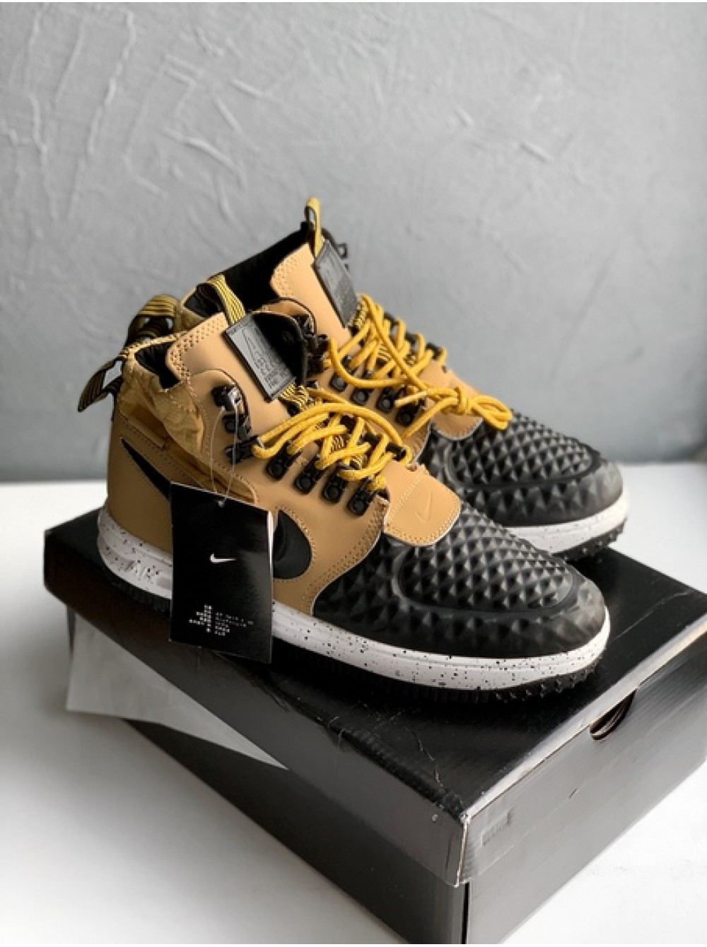 best service fecd0 9c139 Кроссовки Nike Lunar Force 1 Duckboot  17 (Metallic Gold Black-Light Bone)