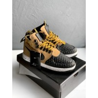 Кроссовки Nike Lunar Force 1 Duckboot '17 (Metallic Gold/Black-Light Bone)