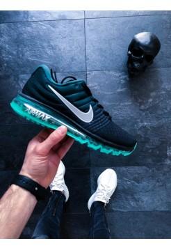 Кроссовки Nike Air Max 2017 (Black/White - Green Stone - White)