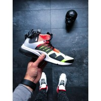 Кроссовки Nike Air Presto Mid Acronym White Black Hot Lava Volt Lab