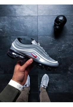 Кроссовки Nike Air Vapormax '97 (Metallic Silver / Varsity Red — White — Black)