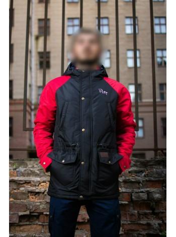 Парка PITT ВЕСНА Black RED