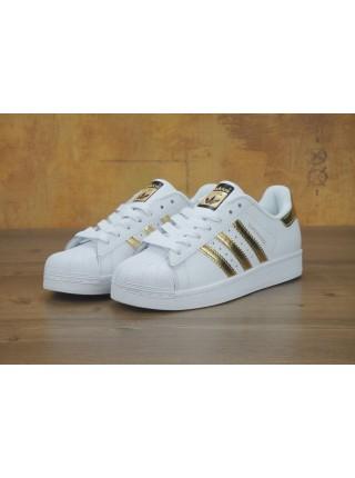 Adidas Superstar II Women White Gold