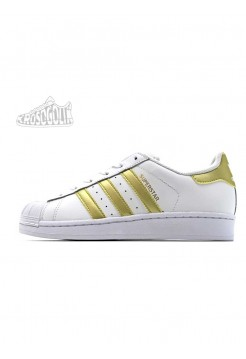 Adidas Superstar II Women White Gold