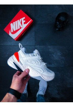 Кроссовки Nike M2K Tekno (Summit White / Black - Team Orange)